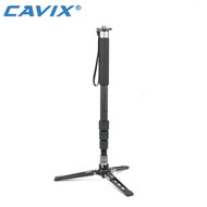 Cavix MPD-284C Carbon Fiber Video 4-section Monopod with Leg Stand (Max Load 8kg ,Twist Lock)