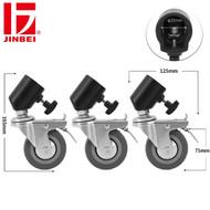 Jinbei JB11-036 75mm 3-in-1 Light Stand Roller Wheels Caster Set ( Fits Max. Ø22mm legs)