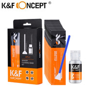 K&F Concept 16mm APS-C DSLR Camera Sensor Cleaning Swabs with Cleaning Liquid