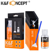 K&F Concept 24mm Full Frame Sensor Cleaning Swabs with Cleaning Liquid