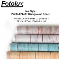 Fotolux 57 x 87cm Ins Style Printed Photo Background Sheet for product photography (Double sided, 2 Patterns)