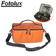Fotolux 333 Nylon Padded Camera Shoulder Bag - Orange (33 x 23 x 16cm)