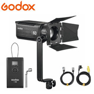 Godox S60 60W LED Focusing Light with Barn Door (5600K , AC / V-mount Battery , Adjustable Beam Angle 6° to 55°)