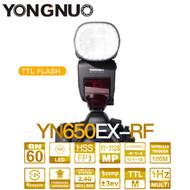 Yongnuo YN650EX-RF 2.4GHz Wireless TTL HSS Speedlite for Canon (24pcs LED lamp Beads , GN60)