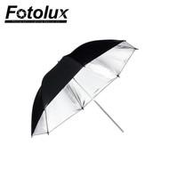 """Fotolux  33"""" (84cm) Umbrella (Black & Silver)"""