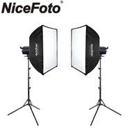 Nicefoto 2x HC-1000BII 100W AC Power LED Video Lighting Kit