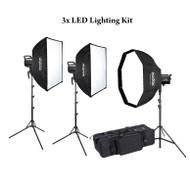 Godox 3xSL100D 100W AC Power Compact LED Lighting Kit