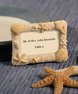 100 Beach Wedding Shell Frame Place Card Holders