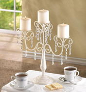 10 Ivory Vintage Inspired Candelabra Wedding Centerpieces