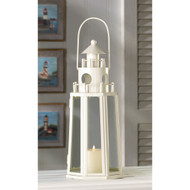 10 Ivory Lighthouse Beach Theme Lantern Wedding Centerpieces