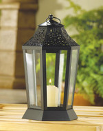 12 Midnight Garden Hurricane Candle Lantern Wedding Centerpieces