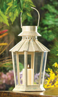 10 Weathered Ivory Garden Lanterns for Wedding Decorations