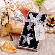 144 Beach Theme Brilliant Starfish Key Chain Wedding Party Favors