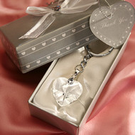 144 Crystal Heart Key Chain Wedding Favors