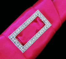 5 Bridal Party Rhinestone Rectangle  Bouquet Buckles
