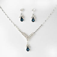 4 Sets Navy Blue Rhinestone Bridesmaid Jewelry