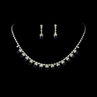 5 Sets Navy Blue Rhinestone Bridesmaid Jewelry - sale!