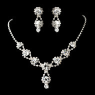 6 Sets Boxed Clear Crystal Bridesmaid Jewelry