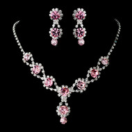 6 Boxed Sets Light Rose Pink Bridesmaid Jewelry
