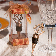 72 Autumn Themed Wedding Wine Bottle Stopper Favors