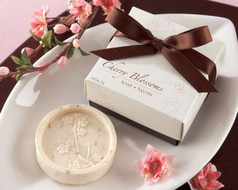 96 Cherry Blossom Scented Soap Wedding Favors