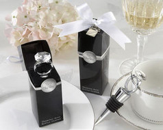 96 Diamond With this Ring Bottle Stopper Wedding Favors