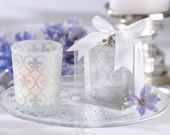 96 Fleur de Lis Tea Light Holders Wedding Favors and Decorations