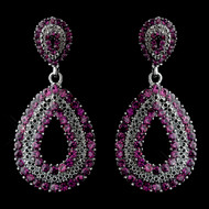Amethyst Purple Crystal Prom or Wedding Earrings