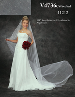 Angel Dust Tulle Cathedral Length Custom Made Wedding Veil