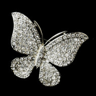 Antique Silver Butterfly Comb and Brooch
