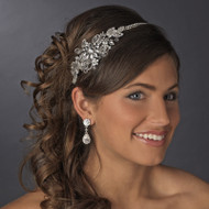 Antique Silver Floral Bridal Headband