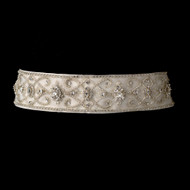 Vintage Look  Beaded Rhinestone Wedding Dress Belt Sash