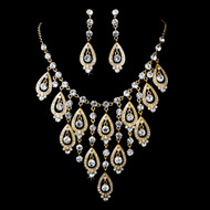 Elaborate Gold Plated Wedding Jewelry Set