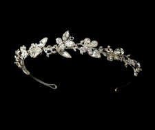 Butterfly Silver Plated Bridal Headband