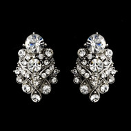Charming Rhinestone Bridal Clip On Earrings