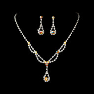 Clear and AB Rhinestone Wedding and Prom Jewelry Set