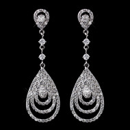 Classic Cubic Zirconia Wedding or Prom Earrings