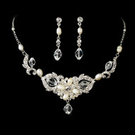 Crystal and Freshwater Pearl Bridal Jewelry Set