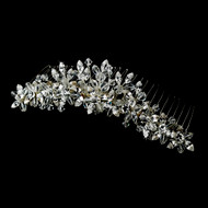 Crystal and Rhinestone Bridal Tiara Comb