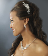 Crystal Bridal Comb and Wedding Jewelry Set