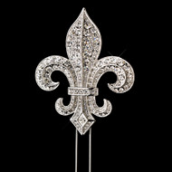 Crystal Fleur de Lis Royal Wedding Cake Topper
