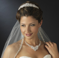 Crystal and Rhinestone Wedding Tiara and Matching Jewelry Set