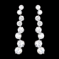 Cubic Zirconia Drop Bridal and Prom Earrings