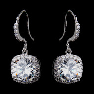 Brilliant Round CZ Wedding Earrings