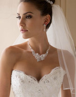 Dazzling Crystal and Rhinestone Wedding Necklace Jewelry Set