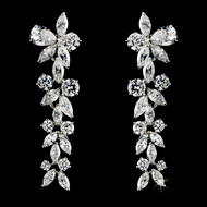 Stunning CZ Dangle Bridal and Formal  Earrings