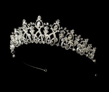Classic Rhinestone Tiara for Wedding and Quinceanera - sale!