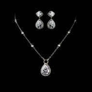Cubic Zirconia Wedding Jewelry Set
