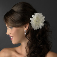 Jeweled Starburst Dahlia Bridal Hair Flower Clip