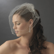 "15"" Dramatically Long Birdcage Wedding Veil"